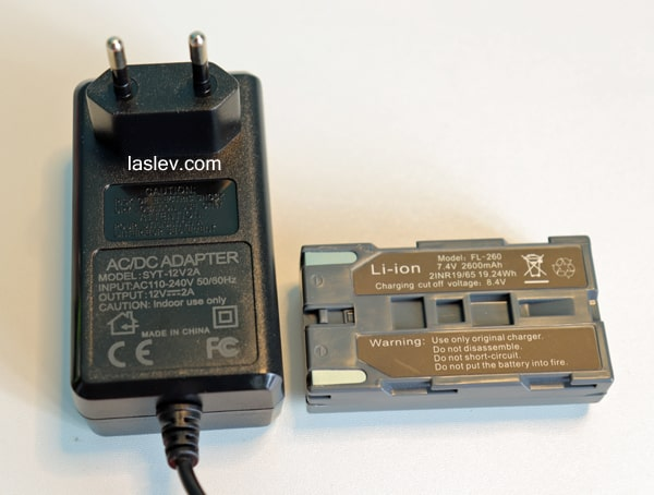 Battery and adapter