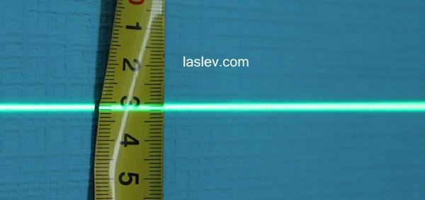 Line width at 1 meter