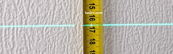 Laser line thickness at 3m Huepar 902CG