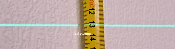 Laser line thickness at 5m Huepar 902CG
