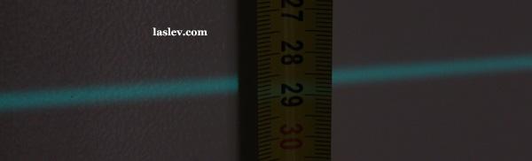 Laser line thickness at 15m Huepar 902CG