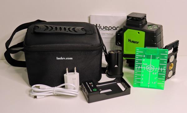 Delivery set laser level Huepar GF360G