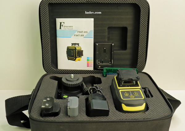 Delivery set laser level Firecore F94T-XG