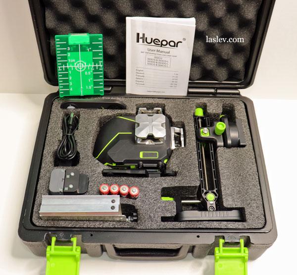 Delivery set laser level Huepar S04CG