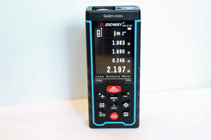 Appearance of the SNDWAY SW-S120 laser distance meter.
