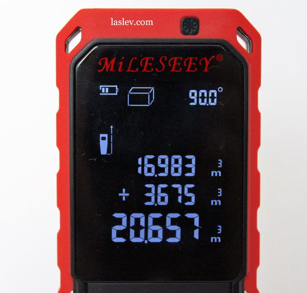 Addition of volumes Mileseey S2 Laser Distance Meter