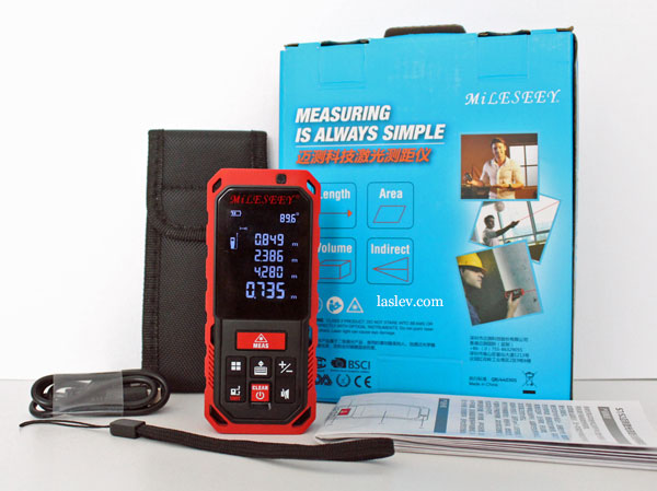 Contents of delivery Mileseey Laser Distance Meter