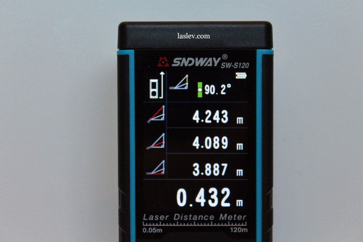 The screen shows the calculation of the length of the unavailable segment.