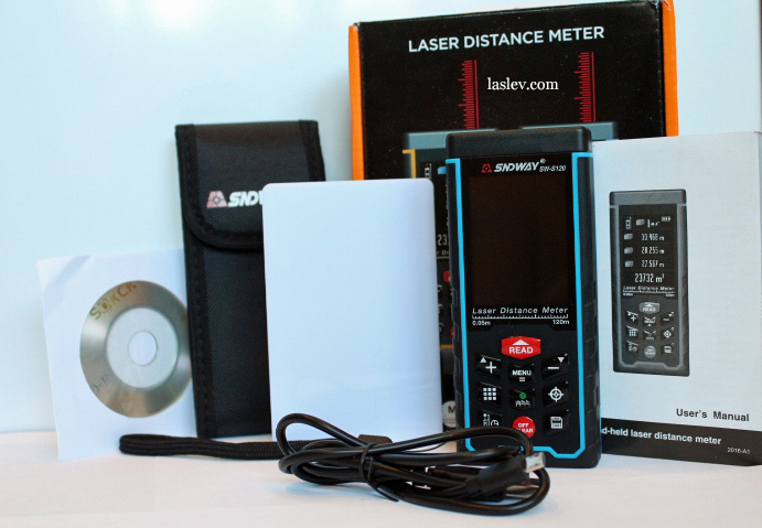 Full package delivery of laser distance meter Sndway SW-S120.