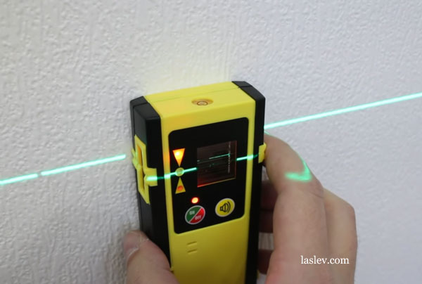 Receiver to work on the street with a laser