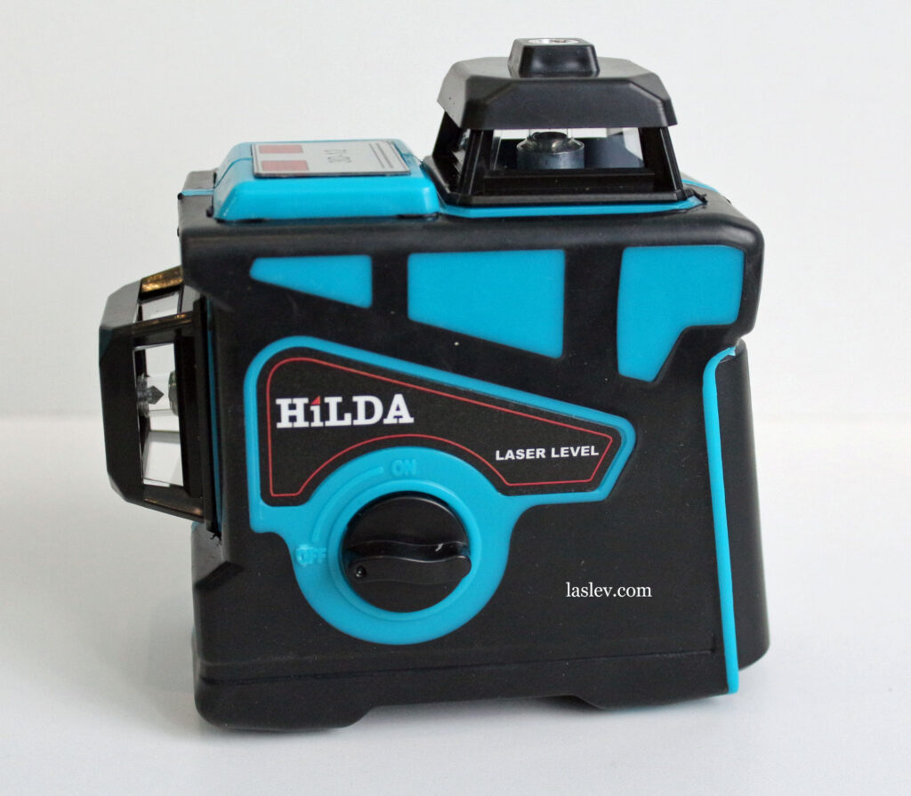 Appearance and design of the HILDA 3D 12 Lines laser level.