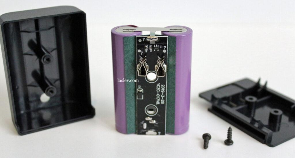 Disassembled battery laser level HILDA 3D 3x360.