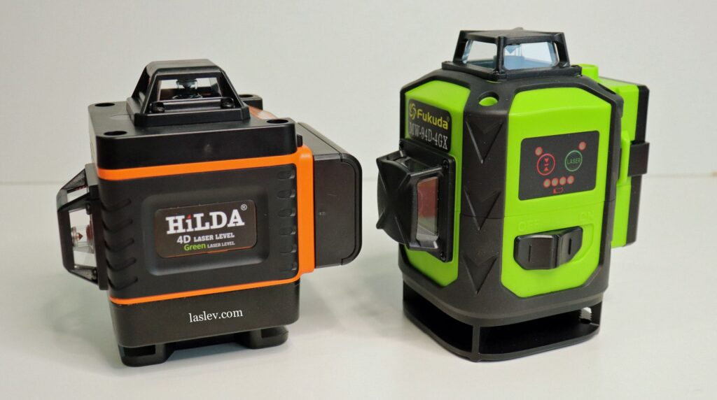 Compare the HILDA 4D to the more expensive professional 4D laser level.