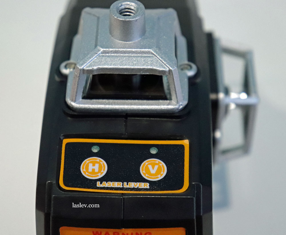 Touch control panel for the DEKO DKLL12PB1 laser level.