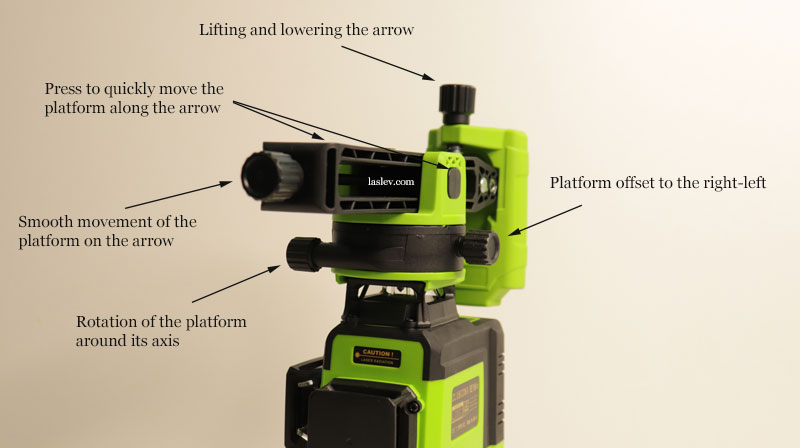Universal magnetic mount included with the laser level.