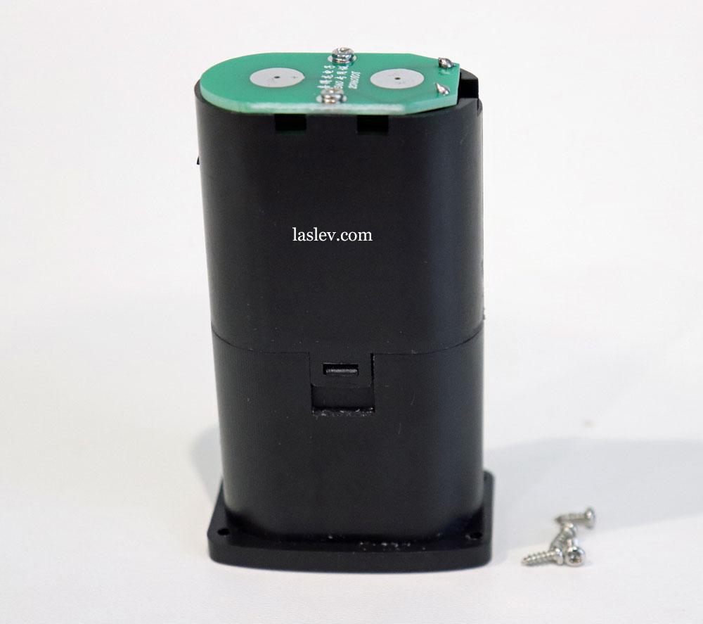 This is how the battery of the DEKO DKLL12PB1 laser looks like.