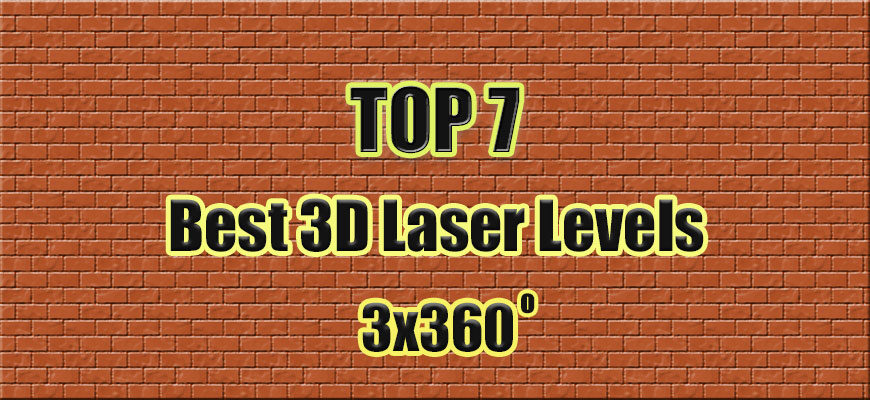 TOP 7 Best 3D Laser Level 3x360 degrees.