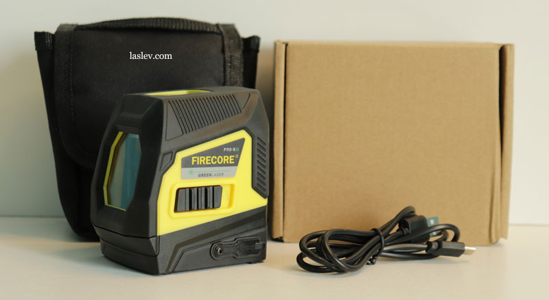 The basic package of the Firecore F113XG (XR) laser level.
