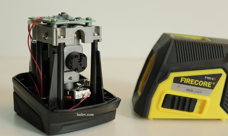 The structure of the compensator at the Firecore F113XG laser level.