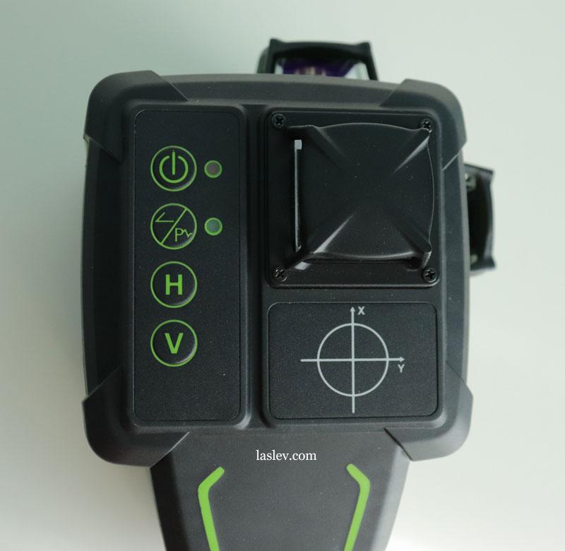 Huepar DT03CG laser level control buttons.