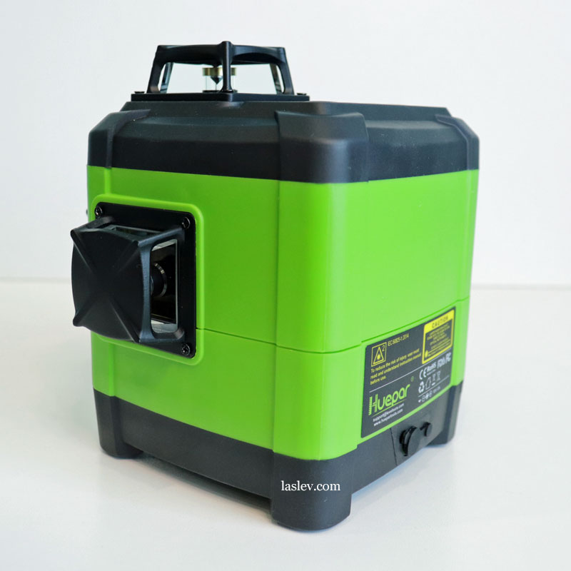 The quality of the assembly and materials of the housing, the conjugation of parts at the Huepar DT03CG laser level.