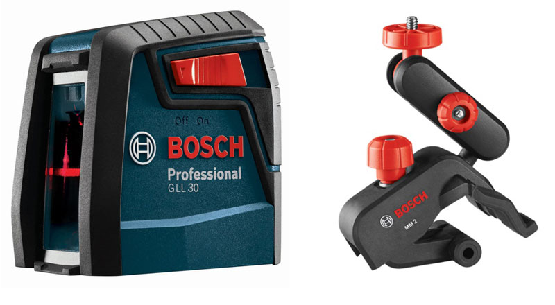 The cheapest model of the Bosch laser level with two planes.