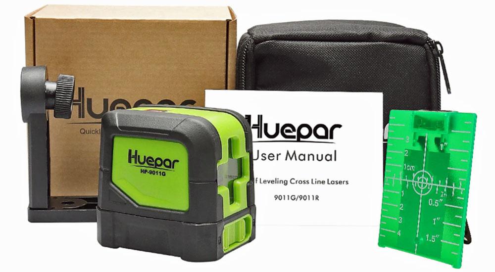 Cheap Hepar 9011G laser level with green laser.