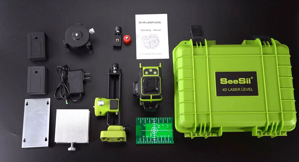 4D laser level lowest price and with the ability to change the brightness of laser lines.