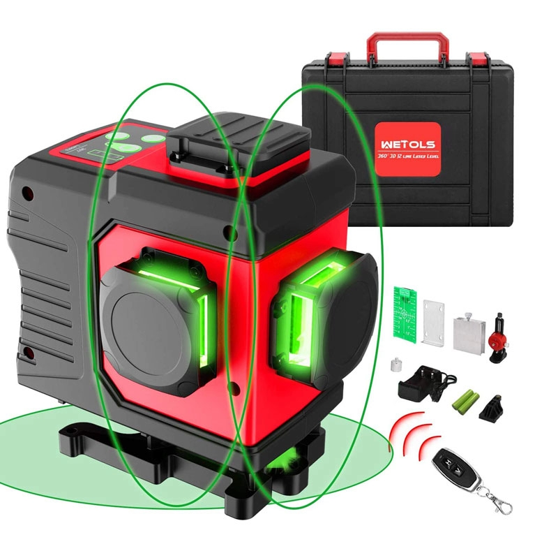 3d laser level at a lowest price with three 360-degree planes.