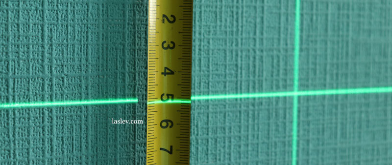 The thickness of the laser line at a distance of 1 meter Huepar LS41G.