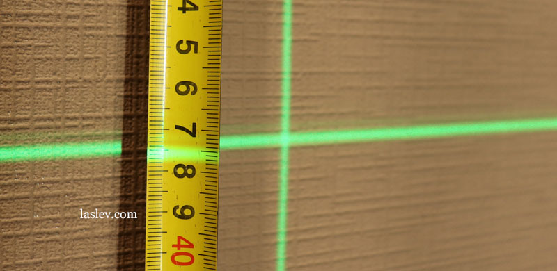 Huepar LS41G The thickness of the laser line at a distance of 10 meter.