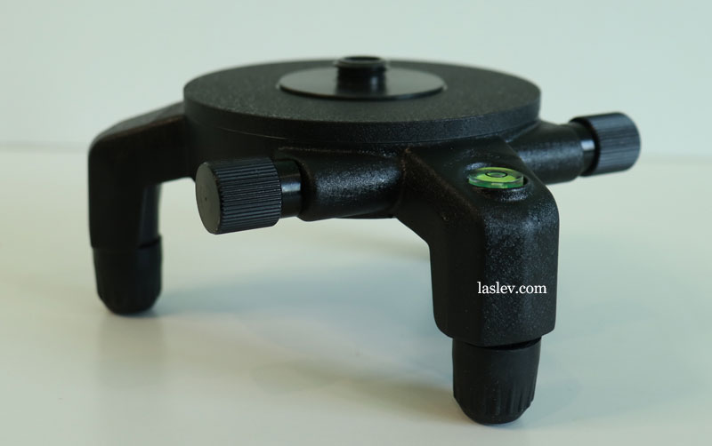 Swivel base from the kit as seen from above.